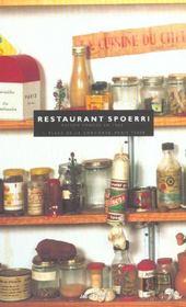 Restaurant spoerri ; maison fondée en 1963 - Intérieur - Format classique