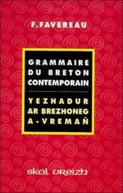 Grammaire du breton contemporain - Couverture - Format classique