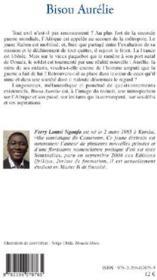 Bisou Aurélie - 4ème de couverture - Format classique