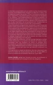 Droit de la consommation et du surendettement (édition 2009) - 4ème de couverture - Format classique