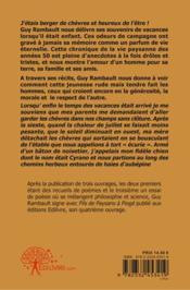 Fils De Paysans A Pioge - 4ème de couverture - Format classique