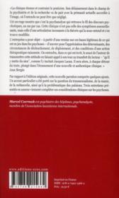 Patronymies ; considérations cliniques sur les psychoses - 4ème de couverture - Format classique