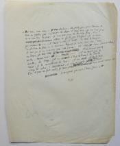 Texte Autographe. - Couverture - Format classique