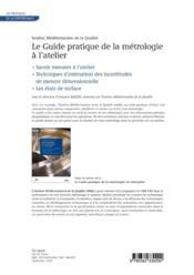 Le guide pratique de la métrologie à l'atelier - 4ème de couverture - Format classique