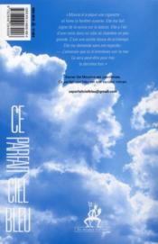 Ce parfait ciel bleu - 4ème de couverture - Format classique