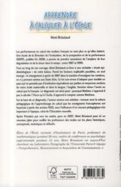Apprendre à calculer à l'école ; les pièges à éviter en contexte francophone - 4ème de couverture - Format classique