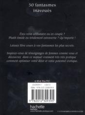 50 fantasmes inavoues - 4ème de couverture - Format classique