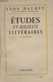 Etudes Et Milieux Litteraires. - Couverture - Format classique