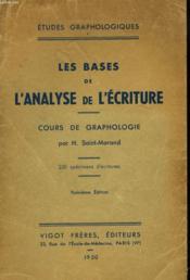Etudes Graphologiques I. Les Bases De L'Ananlyse De L'Ecriture. - Couverture - Format classique
