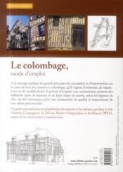 Le colombage ; mode d'emploi (3e édition) - 4ème de couverture - Format classique