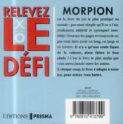 Le livre du morpion - 4ème de couverture - Format classique