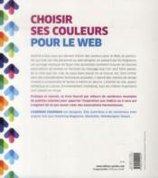 Choisir ses couleurs pour le web - 4ème de couverture - Format classique