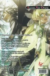 Sword Art Online T.2 ; fairy dance - 4ème de couverture - Format classique