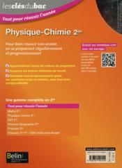 LES CLES DU BAC ; tout pour réussir l'année ; physique chimie ; 2nde (édition 2015) - 4ème de couverture - Format classique