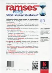 Ramses 2016 ; climat : une nouvelle chance ? - 4ème de couverture - Format classique