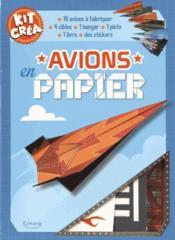 Avions en papier - Couverture - Format classique