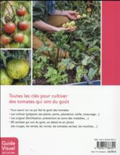 Tomates ; les variétés qui ont du goût et comment les cultiver - 4ème de couverture - Format classique