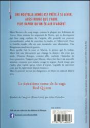Red Queen T.2 ; glass sword - 4ème de couverture - Format classique