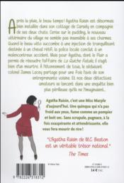 Agatha Raisin enquête T.2 ; remède de cheval - 4ème de couverture - Format classique