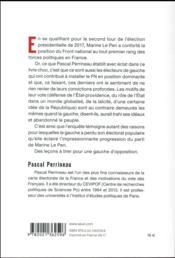 Cette France de gauche qui vote FN - 4ème de couverture - Format classique