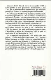 Le manifeste des plébéiens - 4ème de couverture - Format classique