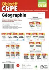 Objectif CRPE ; géographie (édition 2018) - 4ème de couverture - Format classique