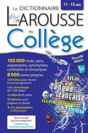 Larousse dictionnaire du collège - Couverture - Format classique