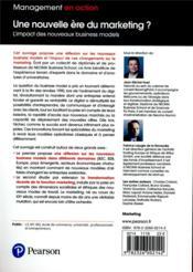 Une nouvelle ère du marketing ? l'impact des nouveaux business models - 4ème de couverture - Format classique