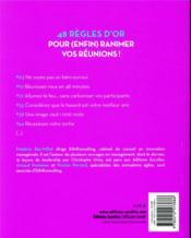 Préparer et animer un workshop ; (r)animez vos réunions et séminaires - 4ème de couverture - Format classique