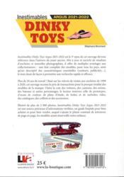 Inestimables dinky toys ; Argus (édition 2021/2022) - 4ème de couverture - Format classique