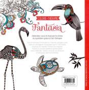 Fantasia ; coloriez 100 motifs inspirants du règne animal et végétal - 4ème de couverture - Format classique
