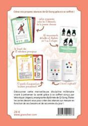 Mes cartes de qi gong ; 75 cartes illustrées pour découvrir le qi gong et préserver sa santé - 4ème de couverture - Format classique