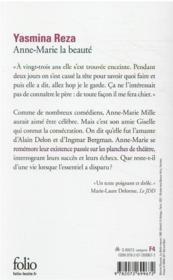 Anne-Marie la beauté - 4ème de couverture - Format classique