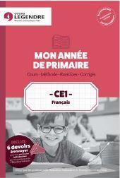 Mon année de primaire ; français ; CE1 ; cours, méthode, exercices corrigés, devoirs à adresser à la correction - Couverture - Format classique