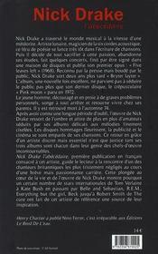 Nick Drake, l'abécédaire - 4ème de couverture - Format classique