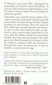 La Dentelliere D'Alencon - 4ème de couverture - Format classique