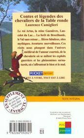 Contes et legendes des chevaliers de la table ronde - 4ème de couverture - Format classique