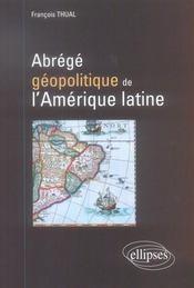 Abrégé géopolitique de l'amérique latine - Intérieur - Format classique