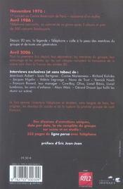 Telephone Ligne Perso - 4ème de couverture - Format classique