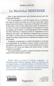 Le maréchal berthier - 4ème de couverture - Format classique