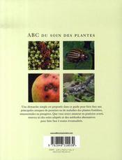 Abc du soin des plantes ; prévenir et guérir - 4ème de couverture - Format classique