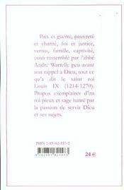 Pensées de saint Louis - 4ème de couverture - Format classique