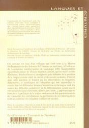 Francais hier et aujourd'hui (le) - 4ème de couverture - Format classique