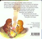 Ami pour petit ours - 4ème de couverture - Format classique