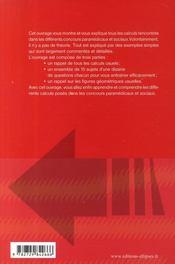 S'entraîner aux calculs ; tous concours paramédicaux & sociaux - 4ème de couverture - Format classique