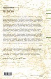 Io l'africaine ; l'Afrique et ses représentations : de la périphérie du monde au coeur de l'imaginaire occidental - 4ème de couverture - Format classique