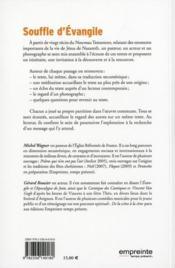 Souffle d'évangile - 4ème de couverture - Format classique