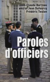 Paroles d'officiers - Couverture - Format classique