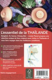 L'essentiel de la Thaïlande (2e édition) - 4ème de couverture - Format classique