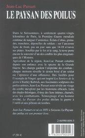 Paysan des poilus - 4ème de couverture - Format classique